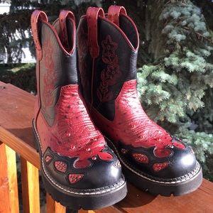 Red Cowboy boots ROPER  sz 7. EU 38
